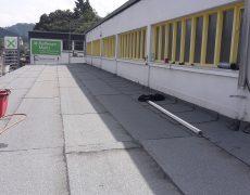 Flachdachabdichtung mit Bitumenbahn